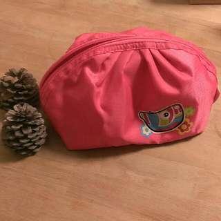 粉紅熱帶魚水餃化妝包