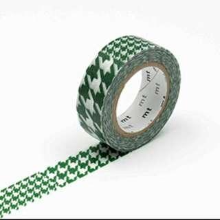MT紙膠帶 綠色千鳥紋 分裝