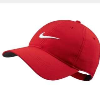 全新Nike紅色刺繡logo帽