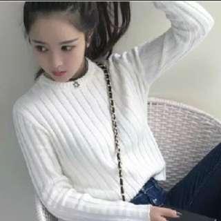 針織衣服 白色 含運