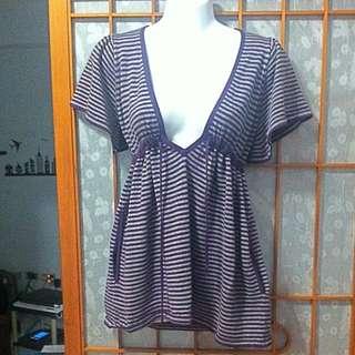 002  條紋罩衫