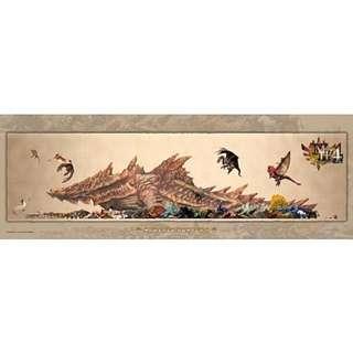 【拼圖LocalKing】〝現貨〞日本拼圖 352片拼圖 魔物獵人 Monster Hunter 罕見怪物尺寸表 ES 352-76