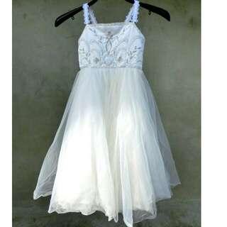 珍珠白刺繡澎澎裙洋裝 童裝 花童 婚禮 42