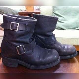 真皮工程師靴