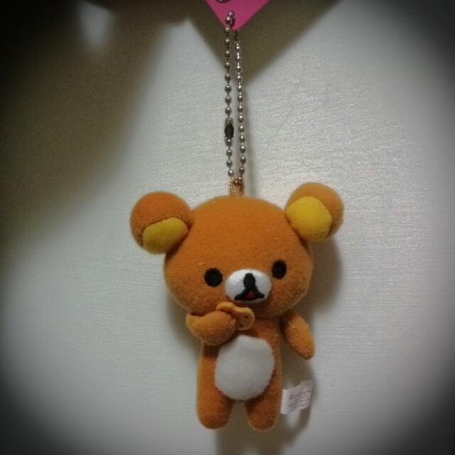 【懶懶熊】娃娃吊飾-雜誌贈品