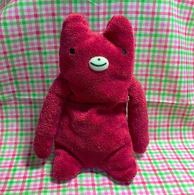 🐻超可愛紅色熊娃娃❤️