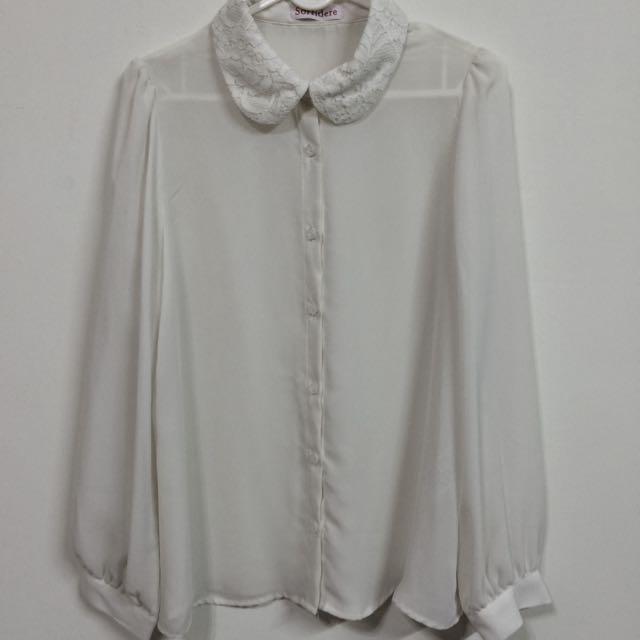 (二手)雪紡襯衫