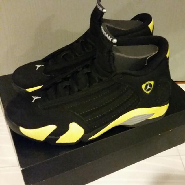 best service 93ae7 eb829 AIR JORDAN RETRO 14 THUNDER, Sports on Carousell