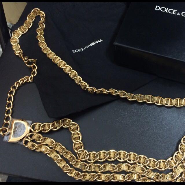 D&G金色腰鍊