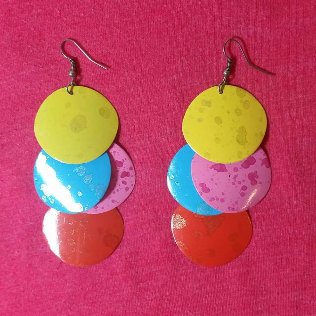 Earrings, Bright & Colourful