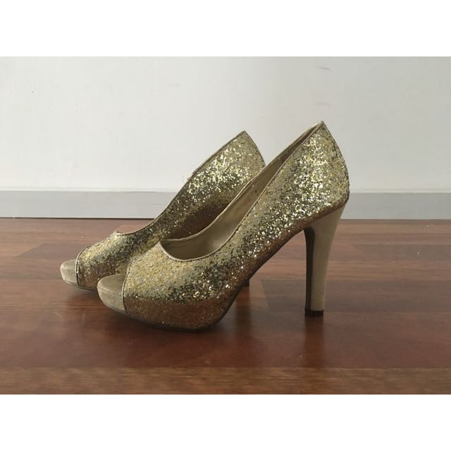 Gold Sequinned NOVO Heal Size 37