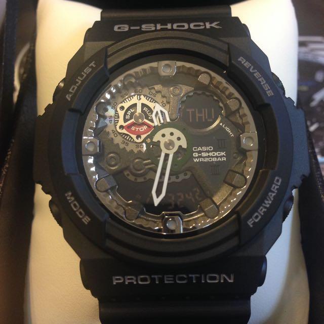 G-Shock GA-300 機械黑銀