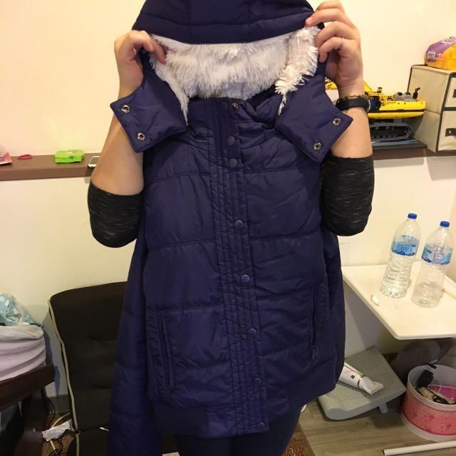 Lativ羽絨衣 藍紫色 寒流必備 Size L