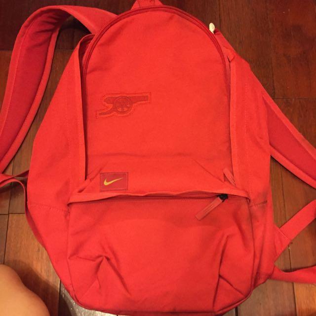 (二手)nike紅色後背包