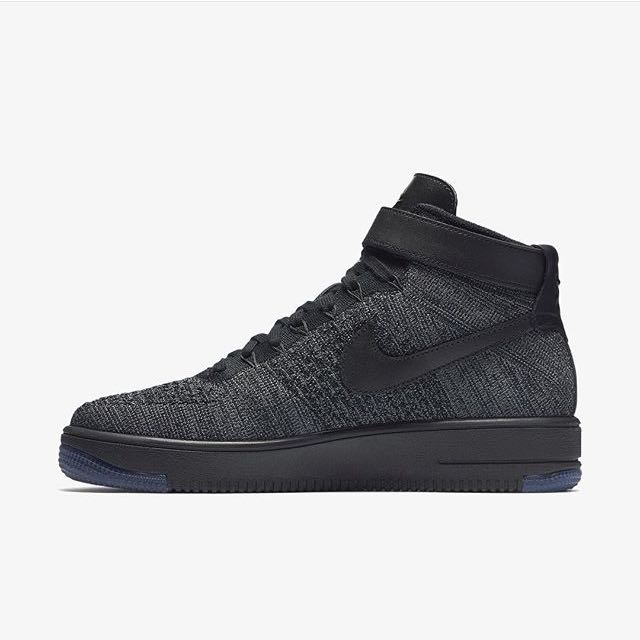 size 40 68124 7e454 Nike Air Force 1 Ultra Flyknit Mid ( Dark Grey/Black )