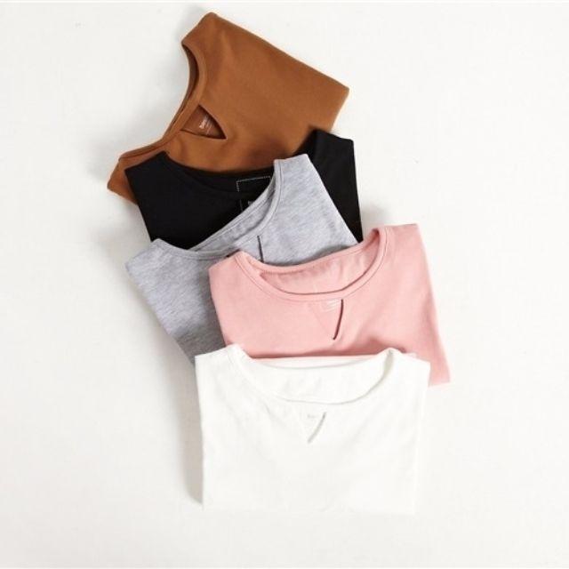 小心機設計三角鏤空純色長袖T恤(5色)