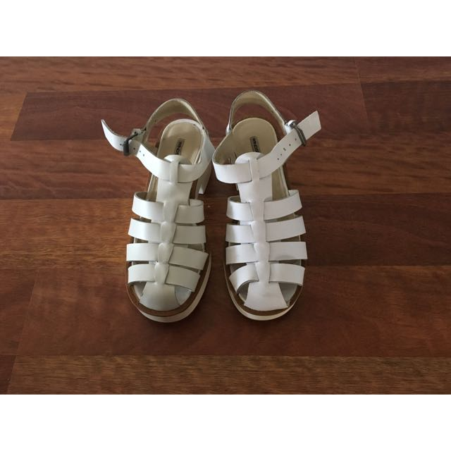 Windsor Smith White 'Lily' Sandals Size 6