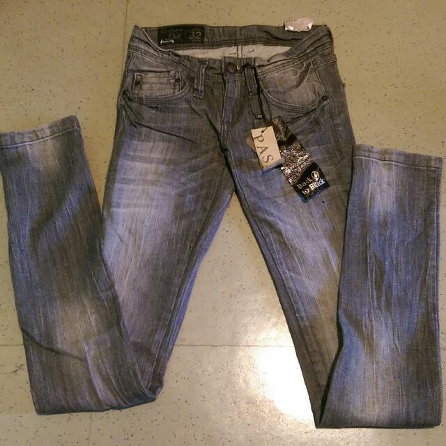 全新✨ZARA副牌PASAJE 深灰牛仔褲 刷色設計