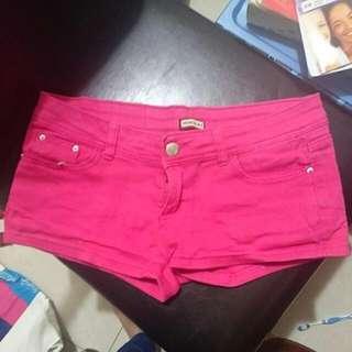 L號 桃紅色短褲