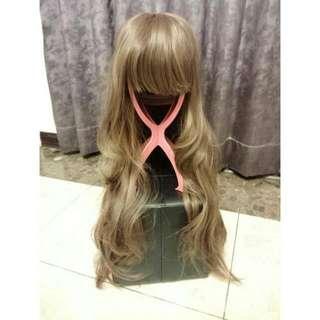 Kinkee 假髮😘 妹頭長捲髮 浪漫捲 有小鬢角可以修修臉