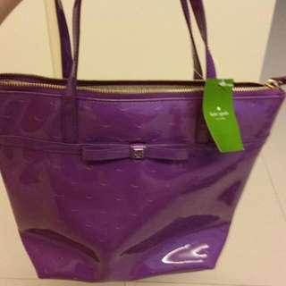 Kate Spade Patent Purple Bag