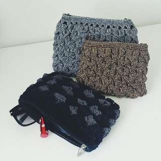 Hand-knitted Pouch