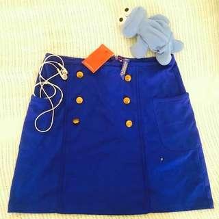 Electric blue padini skirt (NWT)