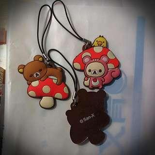 #拉拉熊#懶懶熊 軟膠吊飾