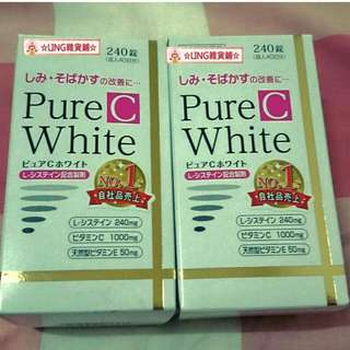 ☆Q醬☆[現貨]Pure C White(240錠)  吃的保養品