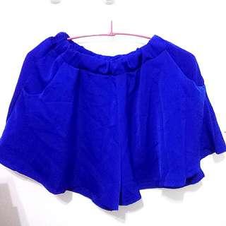 (全新)寶藍色褲裙