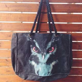 Owl design ~ TOTE bag - Sportsgirl