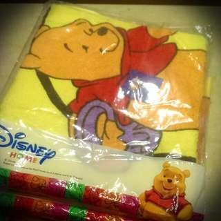迪士尼 《正版》全新小熊維尼浴巾