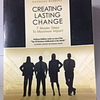 Anthony Robbins, Creating Lasting Change