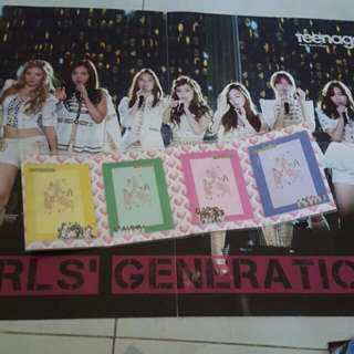 SNSD POSTER AND NOTEPAD