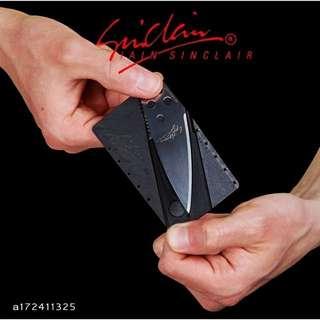CardSharp信用卡折疊刀/卡片式信用卡刀/創意卡片刀/名片刀/卡片刀/折疊刀/軍刀卡 露營戶外隨身工具刀 瑞士刀
