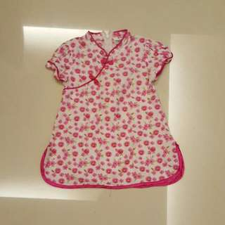 Pre-loved Kid / Toddler/ Cheongsum / Cheongsam Dress For 18 months - 30 months ( Chinese New Year CNY )