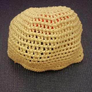 米白針織帽