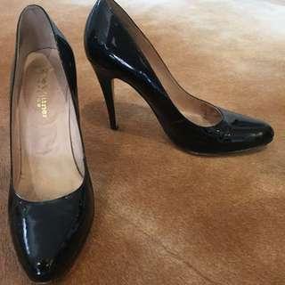 Zoe Wittner Patent Black Heels