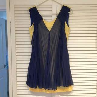 Pleated Chiffon Layered Dress By Ju's (RRP $110)