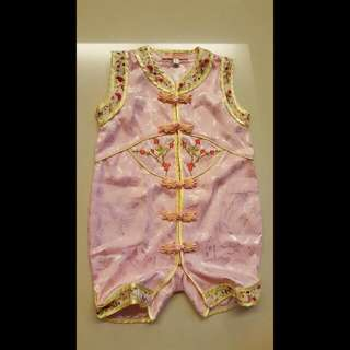 Pre-loved Kid Toddler/ Cheongsum / Cheongsam Romper For 10 months - 20 months ( Chinese New Year CNY )
