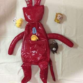 ✨🐰大紅兔兔兩背包💋