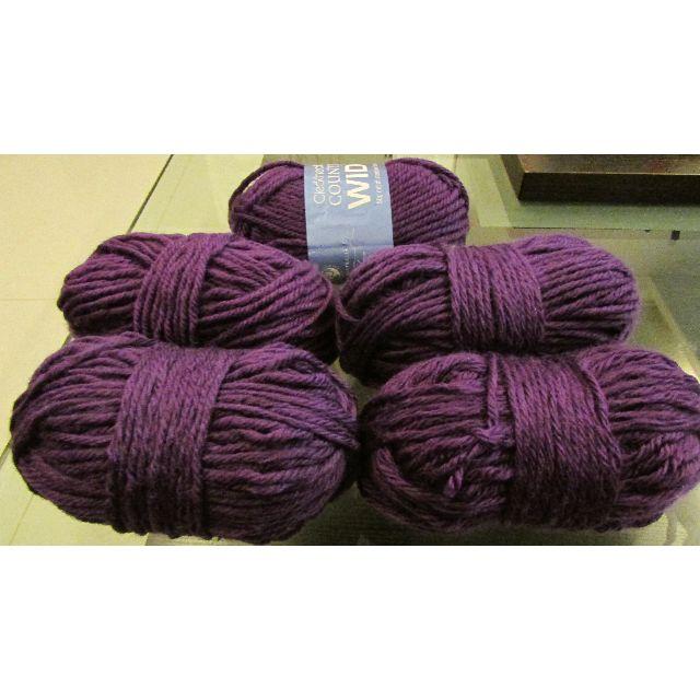 c5da9fc3c45b 5 Cleckheaton Country Wide 14 ply Yarn Balls (Mulberry)