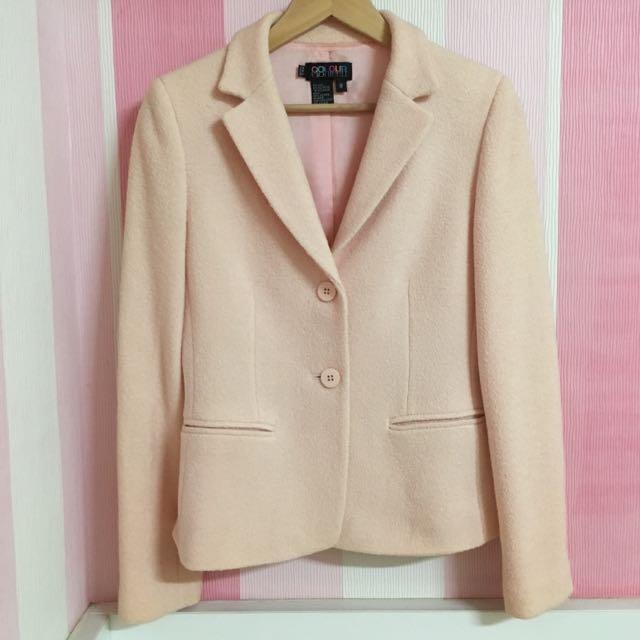 [代Po]淡粉色毛呢西裝外套