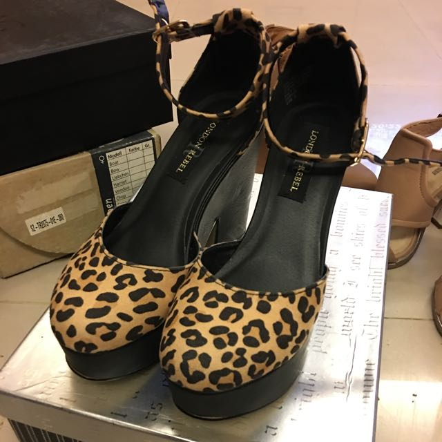 全新 澳洲購入 豹紋高跟鞋 6