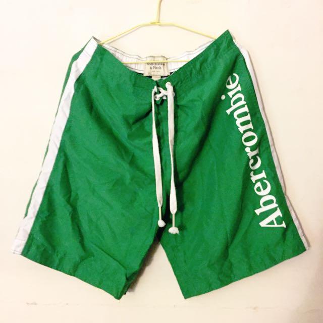 🏄 A&F草綠透氣海灘褲 🏊🏻