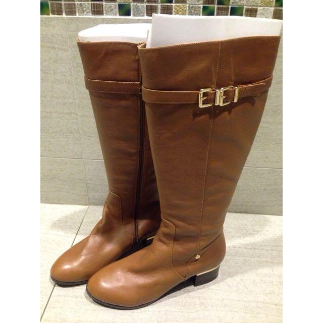 達芙妮 Daphne 棕色長靴(含運)
