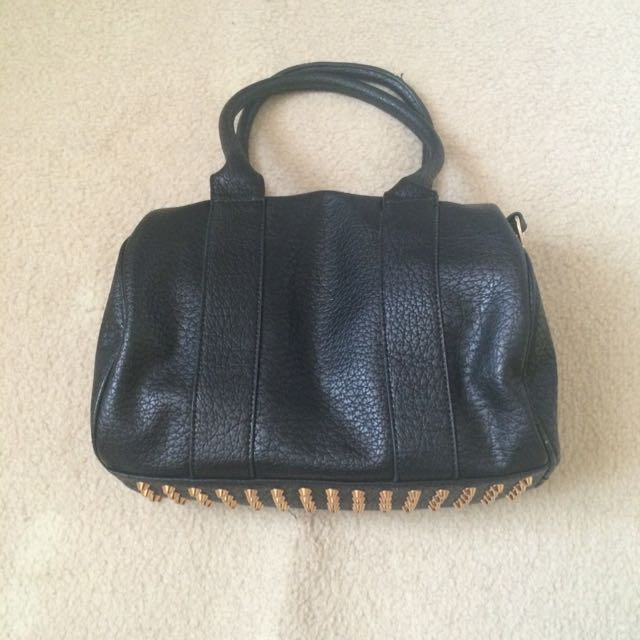 Black x Studded Bag