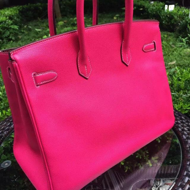 4a46c55a33ac Hermes birkin 35 E5 candy pink hot pink EPSOM leather