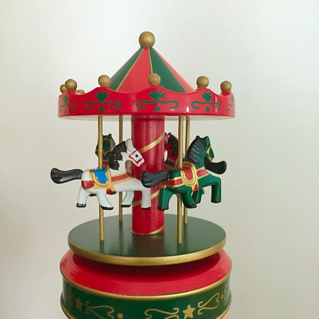 (LAST PIECE- NEW) Musical Carousel Horses