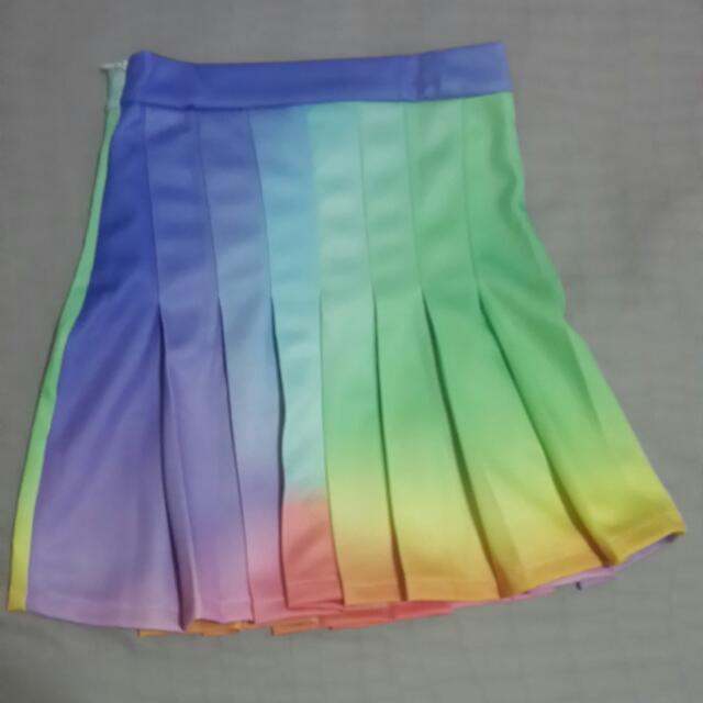 OMIGHTY Rainbow Tennis Skirt